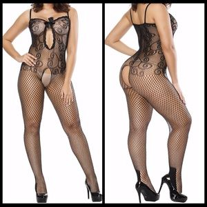 ❤️NEW Sexy Open Crotch Bodystocking Lingerie #L017